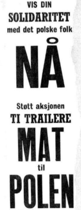 Folkeaksjonen «10 trailere – Mat til Polen»